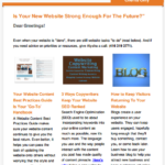 Constant Contact Enewsletter example