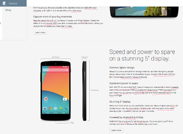 Nexus 5 copywriting