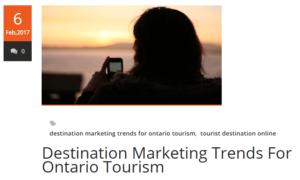 Ontario Tourism blog
