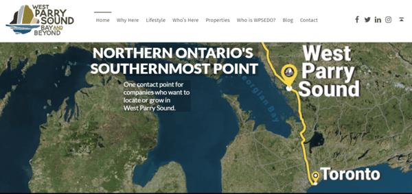 West Parry Sound Economic Development Website