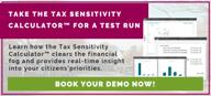 Tax Sensitivity Demo CTA button