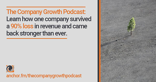 The Company Growth Podcast: Learn how one company survived a 90% loss in revenue and came back stronger than ever.