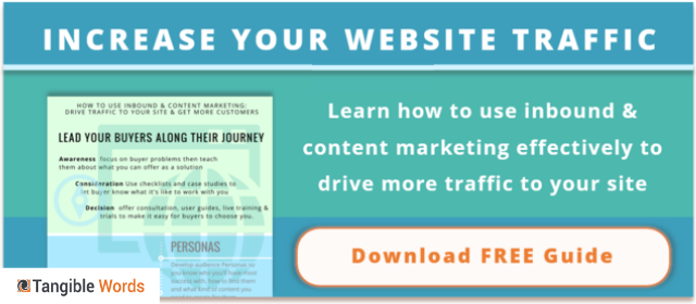 how to use Inbound and content marketing cta button