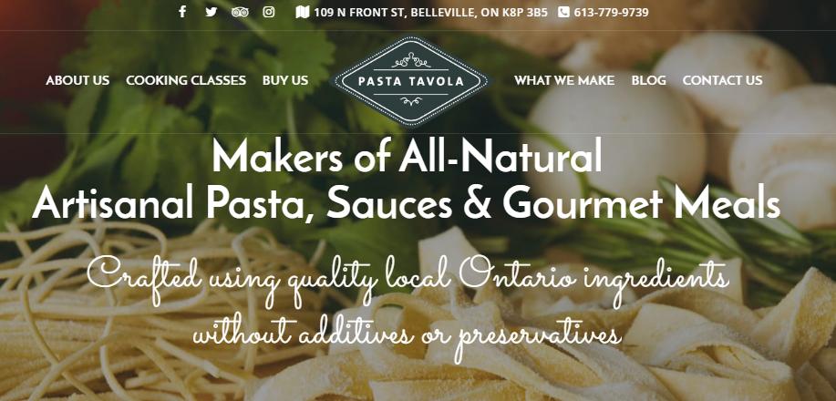 Pasta Tavola new website