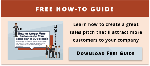 Sales Pitch infographic button